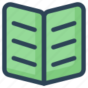 book, open, reading, study icon