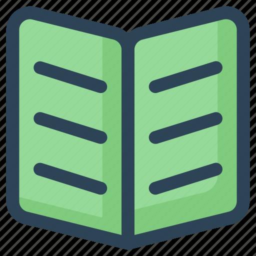 book, open, reading, study icon