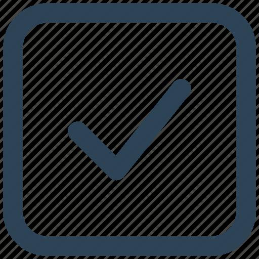 approved, check, square, success, tick icon