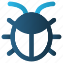 antivirus, bug, fixing, insect, ladybug, repair, web icon