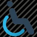 chair, disable, handicap, man, person, sit, wheel chair