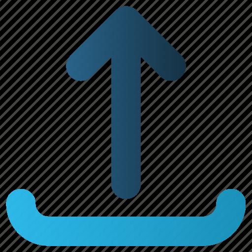 arrow, share, up, upload, web icon