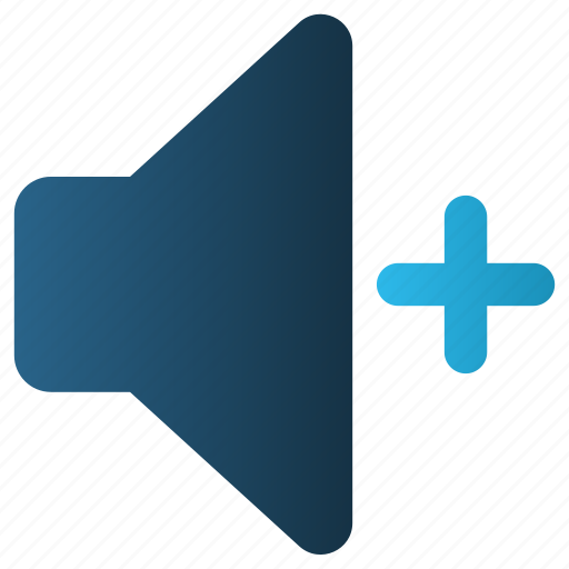 Audio, high, plus, sound, speaker, volume icon - Download on Iconfinder