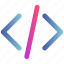 code, coding, html, tag, web icon