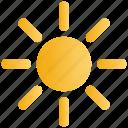 brightness, hot, sun, sunny, sunshine icon