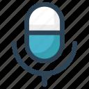 audio, broadcast, mic, microphone, record, voice icon