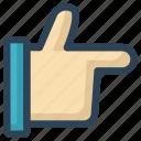hand, like, social, thumb, up, vote, web