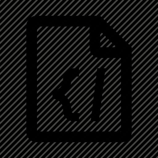 code, coding, development, file, programming, web icon