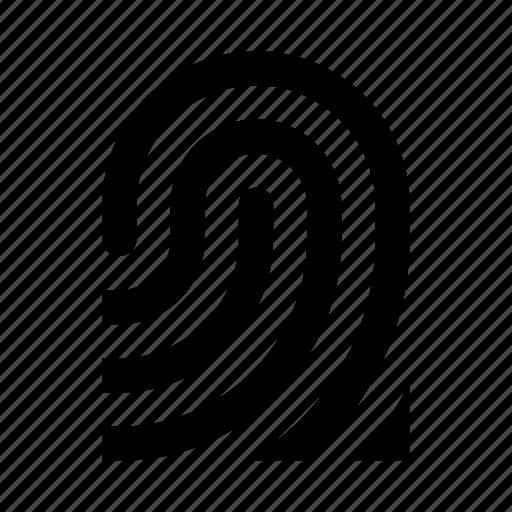 finger, fingerprint, iphone, secure icon