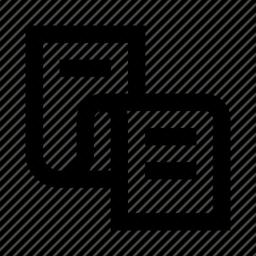 code, file, list, manuscript, paper, script, web icon