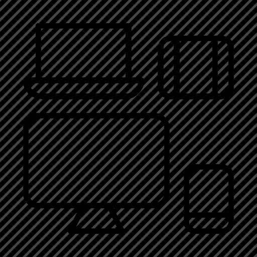 adaptive, design, electronics, mobile, responsive, web icon