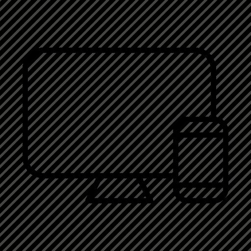 adaptive, design, device, electronics, mobile, responsive, web icon