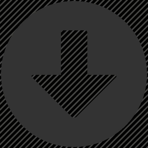 arrow, down, down arrow, download, interface, move icon