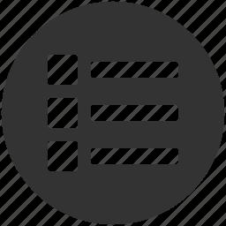 apps, grid, list, menu, options icon