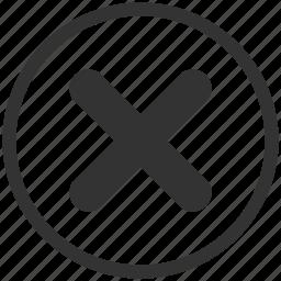 cancel, close, closed, delete, exit, remove, stop icon