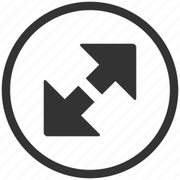 arrow, arrows, enlarger, expand, fullscreen, zoom icon