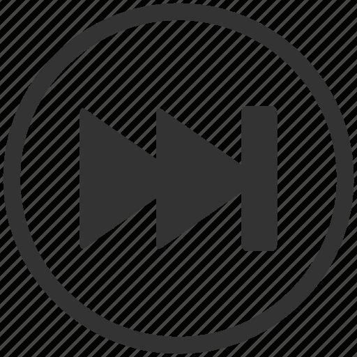 arrows, media, multimedia, play, player, video icon
