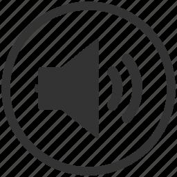 media, multimedia, sound, speaker, volume icon