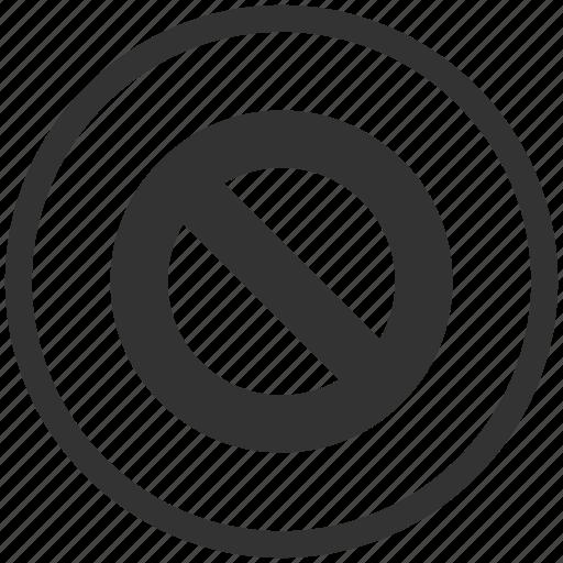 ban, cancel, forbidden, no entry, remove, stop icon