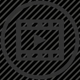 cinema, film, media, movie, play, player, video icon