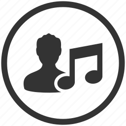 audio, music, music player, person, player, sound, user icon