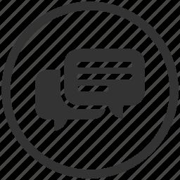 bubble, chat, chat bubble, comment, message, talk icon