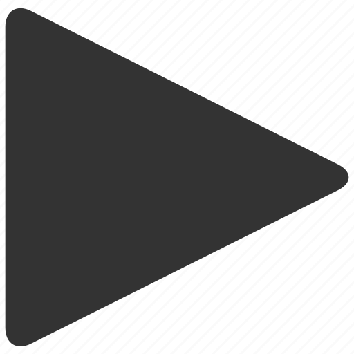 arrow, movie, play, player, sound, start, video icon
