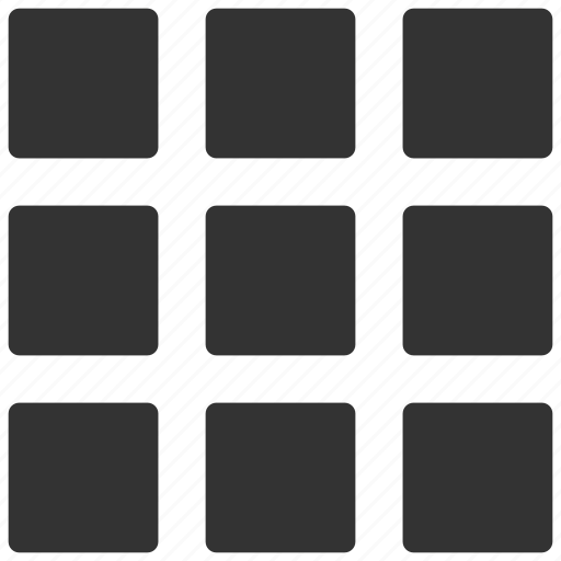 apps, grid, list, menu, tile icon