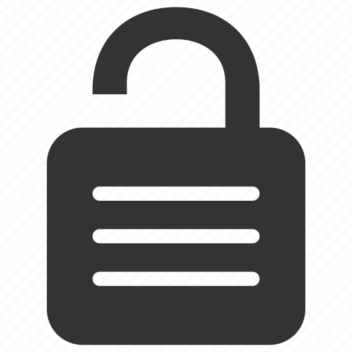 lock, password, private, protect, safe, secure, unlock icon
