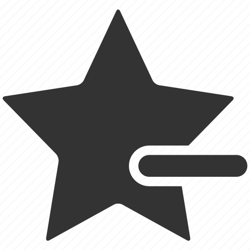 bookmark, cancel, delete, dislike, minus, remove, star icon