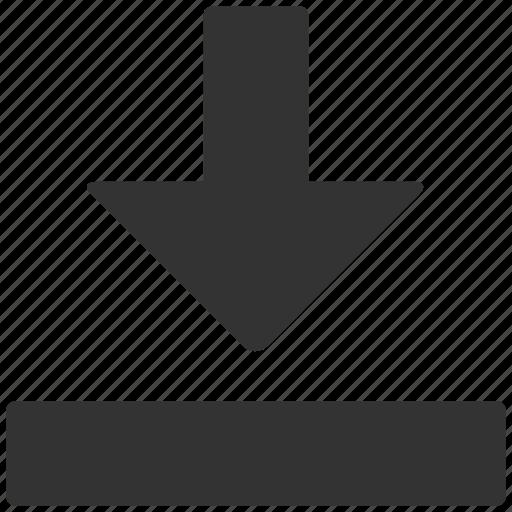 arrow, down, down arrow, download, move, next icon