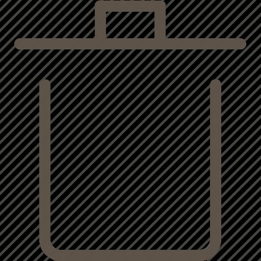 box, trash, web icon