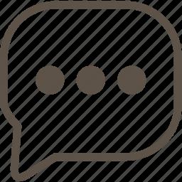 communication, dialogue, web icon