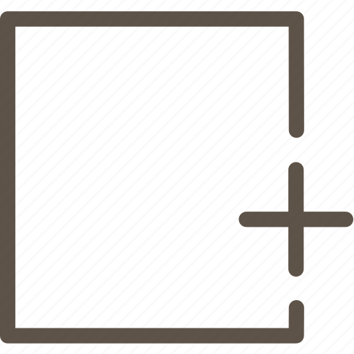 box, plus, web icon