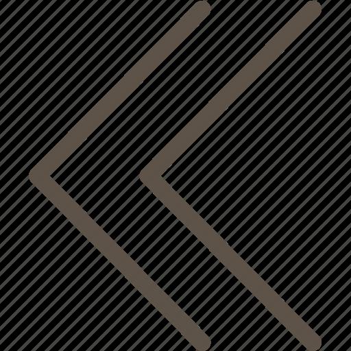 arrow, left, web icon