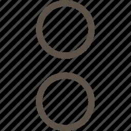 circle, menu, ring, web icon