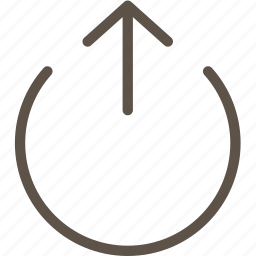 arrow, circle, ring, web icon