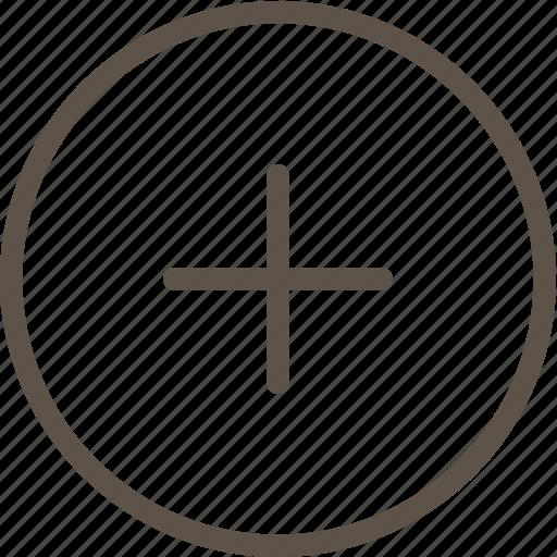 circle, plus, ring, web icon