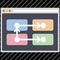 algorithm, creative, design, page, seo, web, wordpress icon
