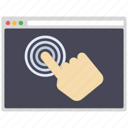 click, creative, design, page, seo, web, wordpress icon