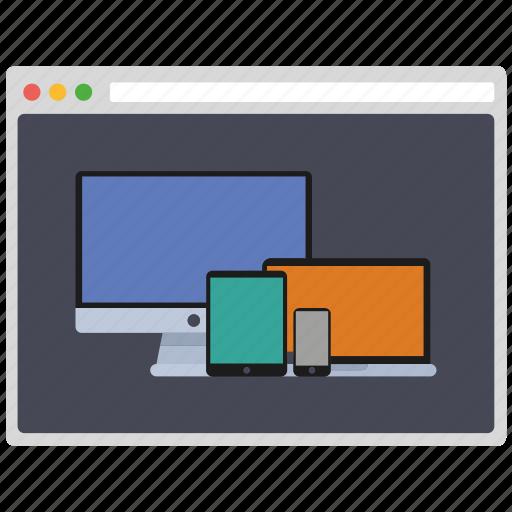 creative, design, devices, page, seo, web, wordpress icon