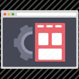 creative, design, page, seo, settings, web, wordpress icon