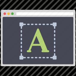 creative, design, page, seo, text, web, wordpress icon