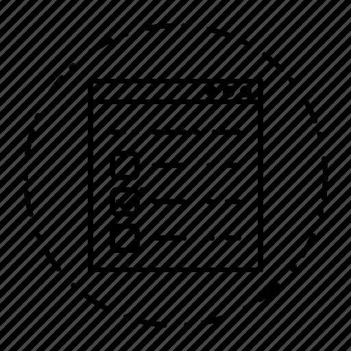 qcm, survey, template, web icon