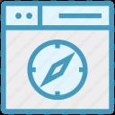 browser, compass, page, safari, web, webpage, website