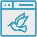 bird, browser, fly, page, web, webpage, website