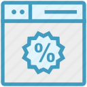 browser, page, percentage, tag, web, webpage, website icon
