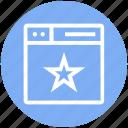 browser, favorite, page, star, web, webpage, website