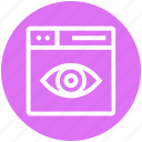 browser, eye, page, view, web, webpage, website icon