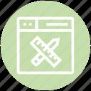 browser, design, page, pencil & ruler, web, webpage, website